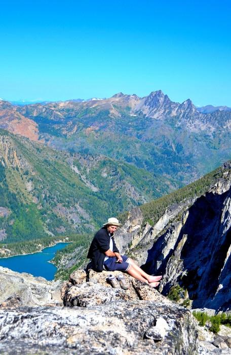 Andrey on top Aasgard Pass