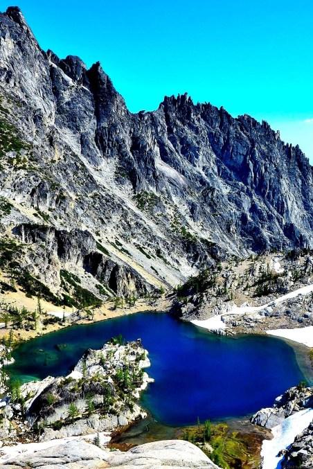 Crystal Lake under McClellan Peak