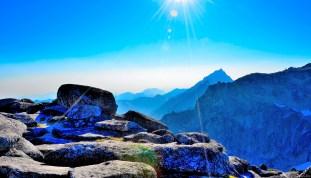 Sunshine on Annapurna summit