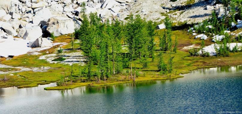 Strip of green beside Crystal Lake