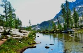 Trail beside stream