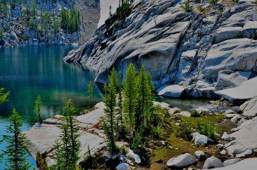 Laprechaun Lake and hills around it