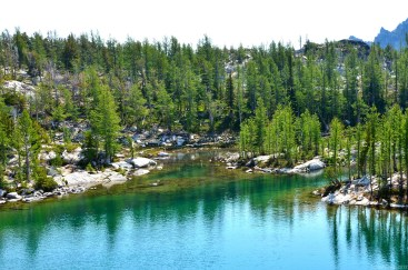 Looking back at Leprechaun Lake