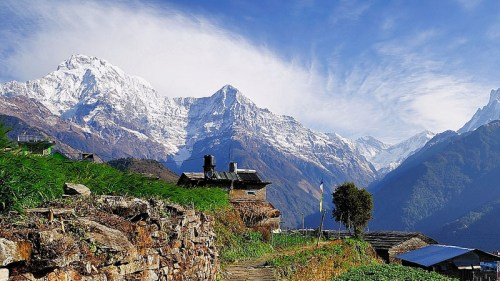 Mountain scene-Ghandruk