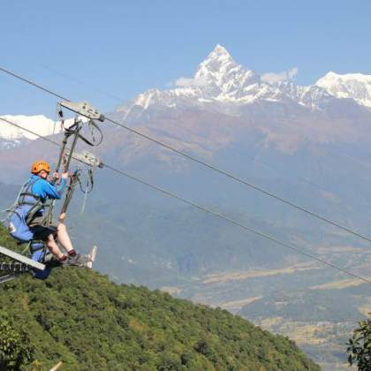 Zip-Flyer in Nepal