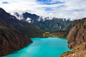 Phoksundo Lake in Dolpo Nepal.