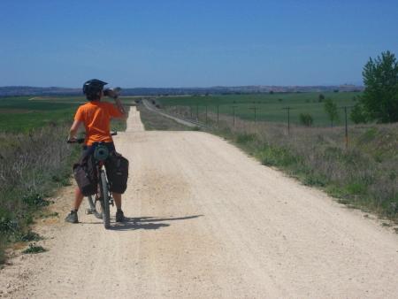 Sandra camino a Alcolea