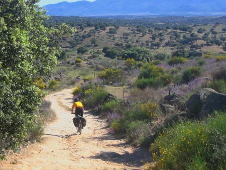 Jorge camino a Villar del Pedroso