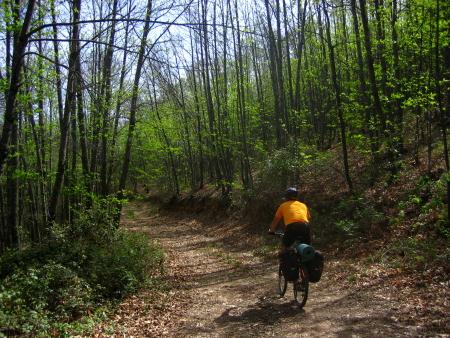 Jorge camino a la Ermita del Humilladero