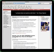 screenshot of sinnermanensemble.org