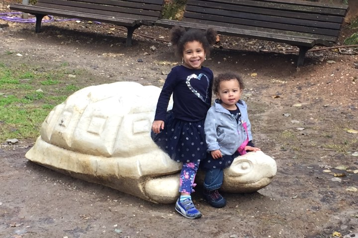 Jasmine and Grace at the Jerusalem Biblical Zoo