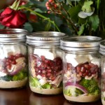 Primal Broccoli and Pomegranate Mason Jar Salad