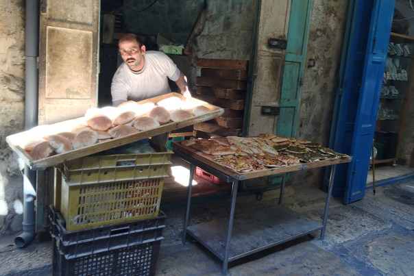 Easter in Jerusalem - Snacks in the Old City after Mass at the Church of the Holy Sepulchre