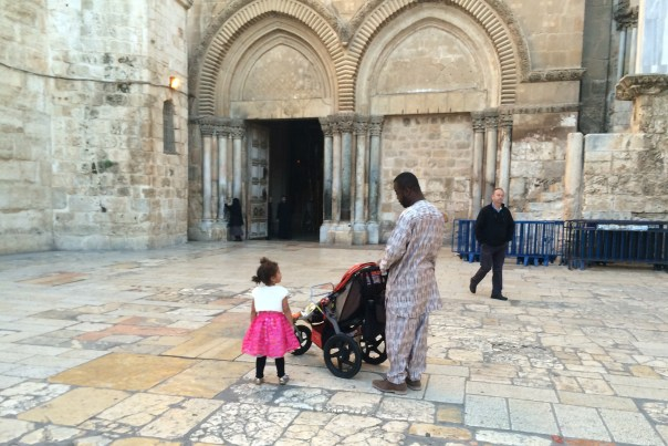Easter in Jerusalem - outside the Church of the Holy Sepulchre