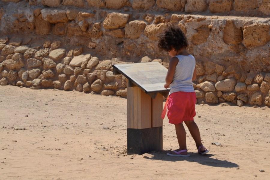 Tour guide Jasmine in Caesarea National Park, Israel