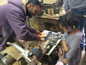 Travel with Kids - Wood shop in Bethlehem
