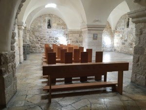 Travel with kids - Inside the Milk Grotto in Bethlehem