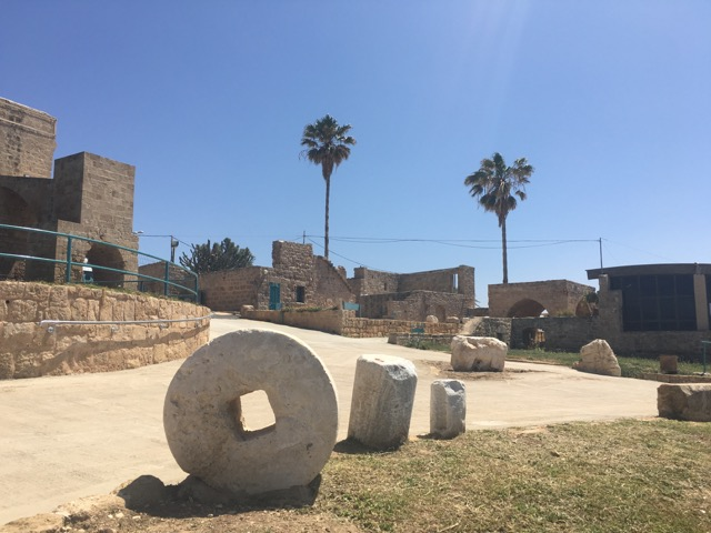 Travel with kids - Ruins at Achziv in Northern Israel