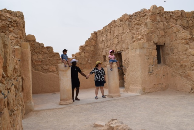 Travel with Kids - Family photo in Masada