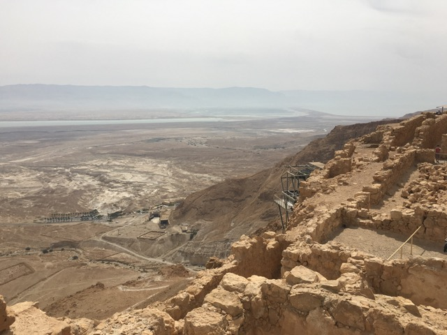 Stunning views from the cable car on the way up to Masada