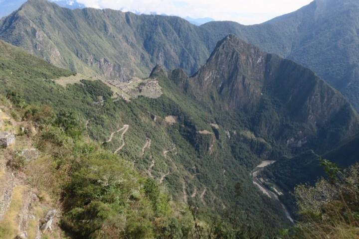 Path up the Mountain, Machu Picchu, Peru
