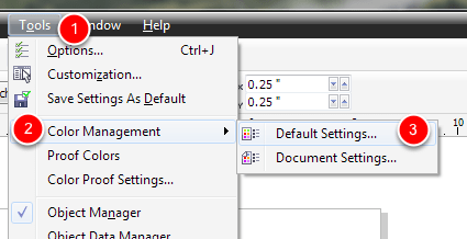 Setting Up Your Defaults In Coreldraw X6 X7 X8