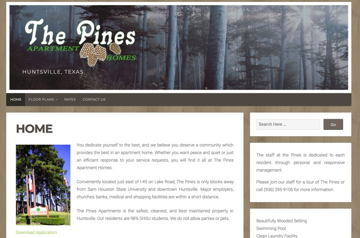 The PInes Apartments in Huntsville, Texas