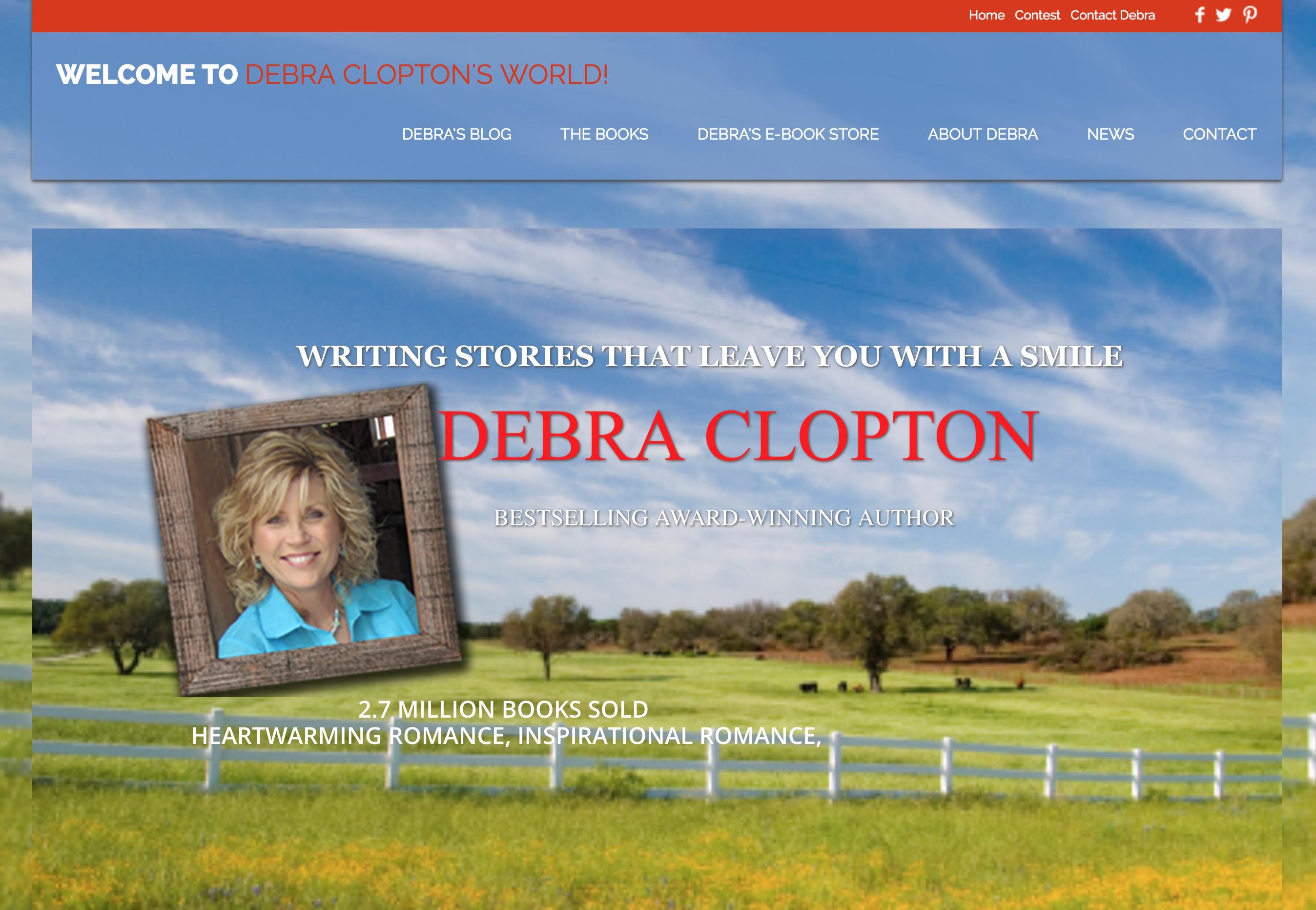 Debra Clopton's author website