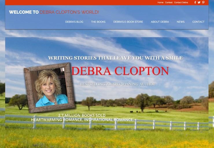 Screenshot of Debra Clopton's old website