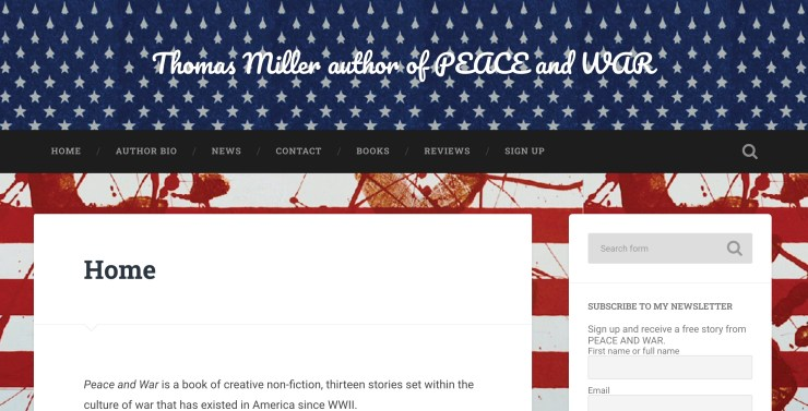 Thomas Miller author of Peace and War
