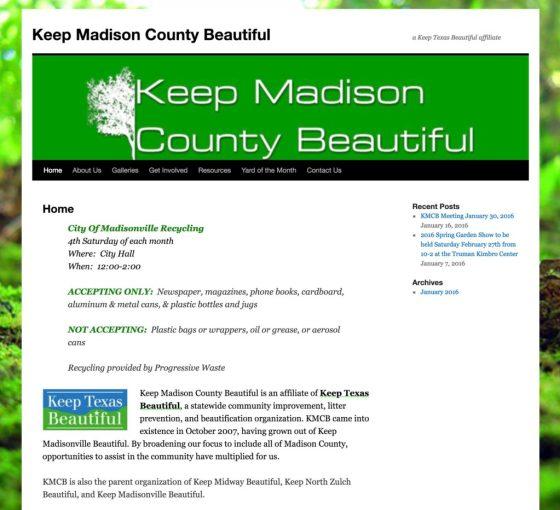 Keep Madison County Beautiful website