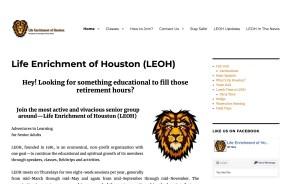 Life Enrichment of Houston website