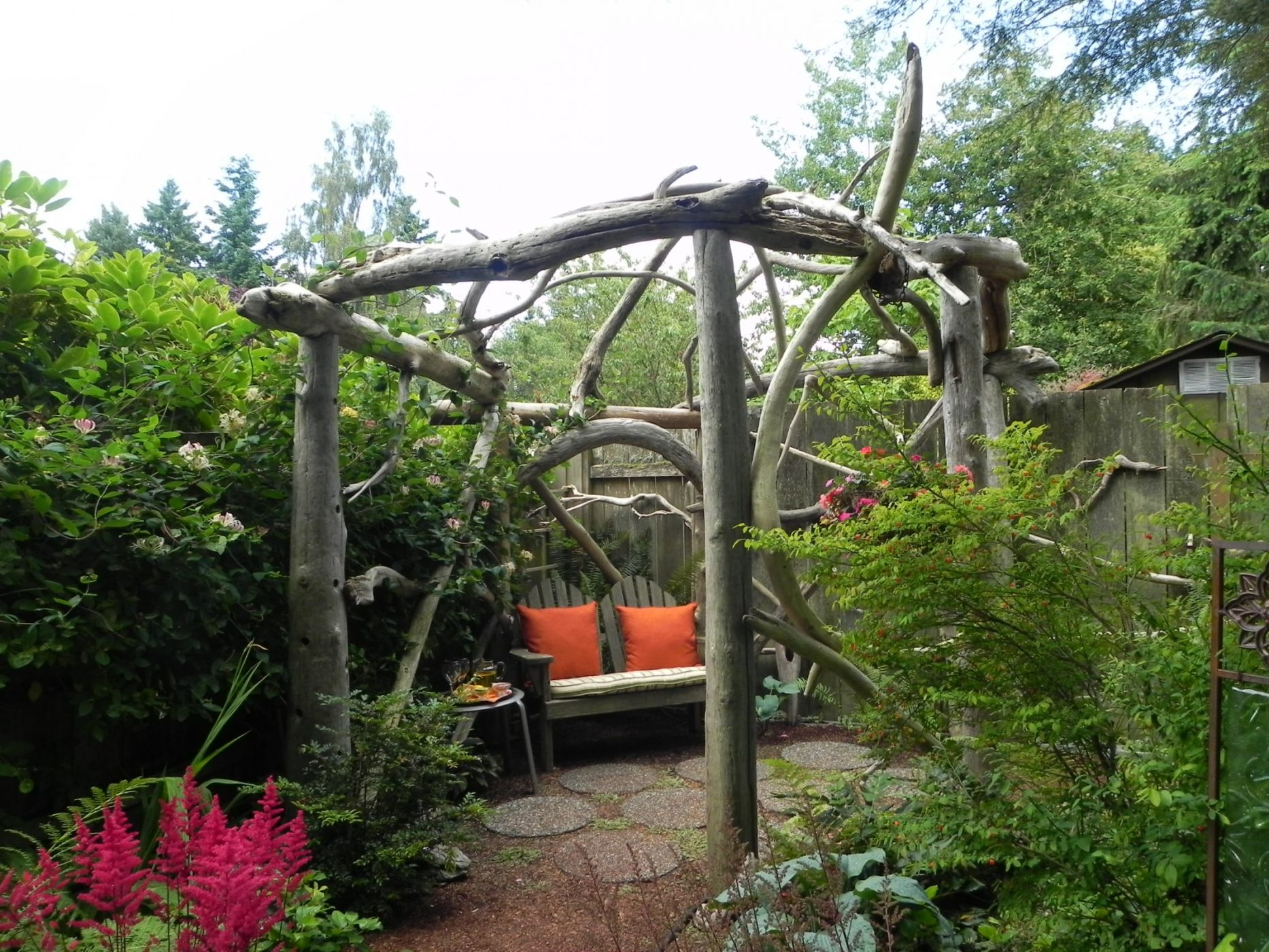 How to Build How To Build A Natural Wood Arbor Plans Woodworking