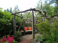 Rustic wood pergola