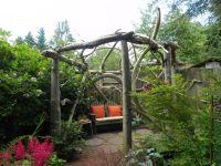 Rustic wood pergola | Sublime Garden Design | Landscape ...