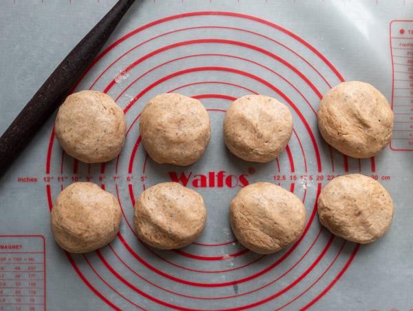 Dividing Chia Chapati Dough