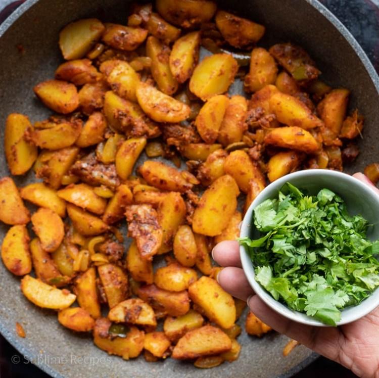 Garam masala and cilantro