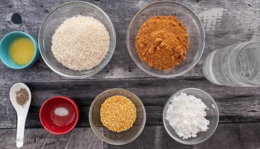 Ingredients for making Kali