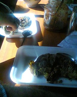 """""""Stuffed rooster head,"""" a regional specialty. It was actually quite good."""