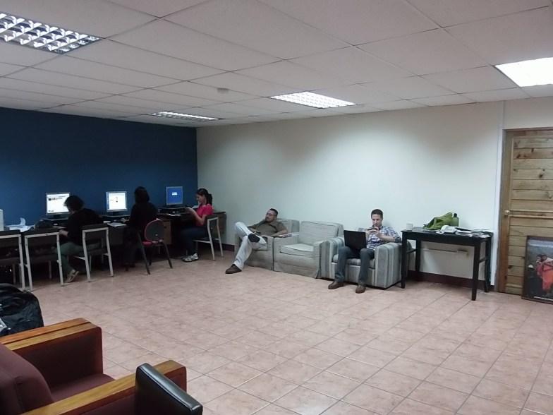 PCRVs kick back in the lounge