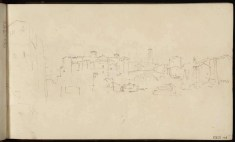 J.M.W.Turner Isola Tiberina, Rome, with the Ponte Cestio, 1819 From the Rome and Florence sketchbook, TB CXCI 2 Page size, 113 x 189 mm Photo courtesy of Tate Click on the image to enlarge To see the image in the Tate's online catalogue of the Turner Bequest, click on the following link, and press your browser's 'back' button to return to this page: