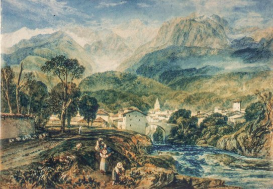 J.M.W.Turner Sallanches, Savoy, from the St Martin road, c.1808 Watercolour, 281 x 399 mm 11 x 15 1/2 ins Private Collection Photograph by David Hill