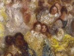 J M W Turner A Castle in an Alpine Valley, called 'Heidelberg', c.1842, detail of couples #3 Oil on canvas, 52 × 79 ½ ins (132 × 201 cms) Tate, London, N00518 Photograph by David Hill, courtesy of Tate