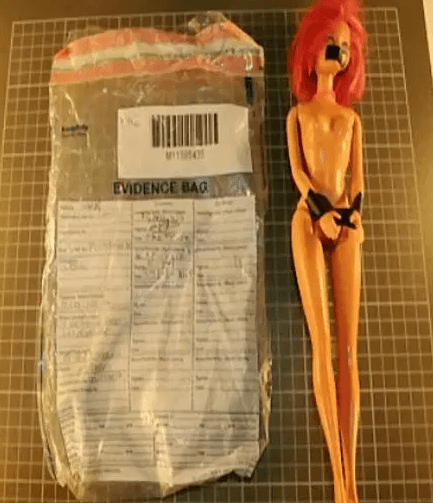 The tortured Barbie doll - Source from South West News Network
