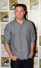 """Channing Tatum attending the press line for the animated comedy """"The Book of LIfe""""."""