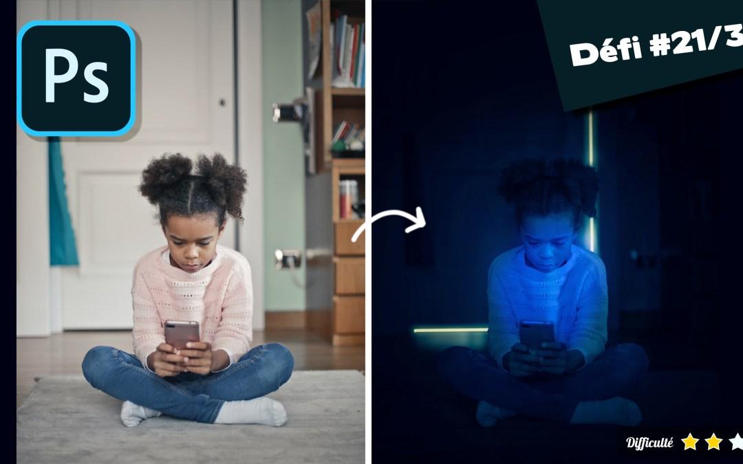 Transformer une photo de jour en nuit photoshop