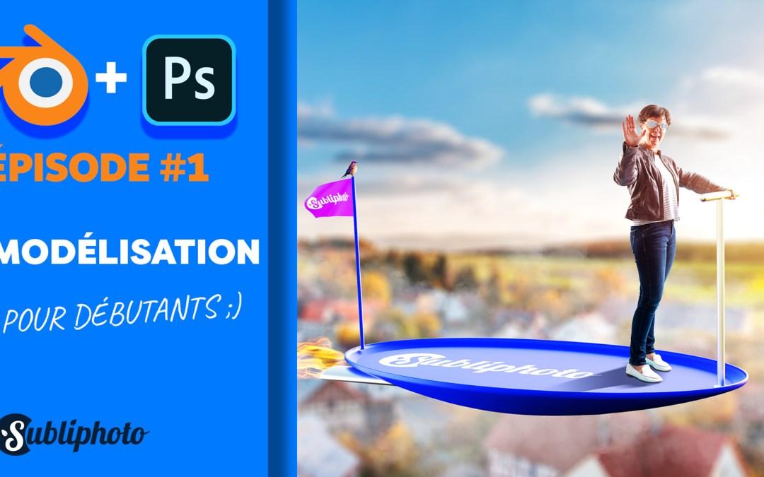 mixer 3D et photoshop, partie modélisation