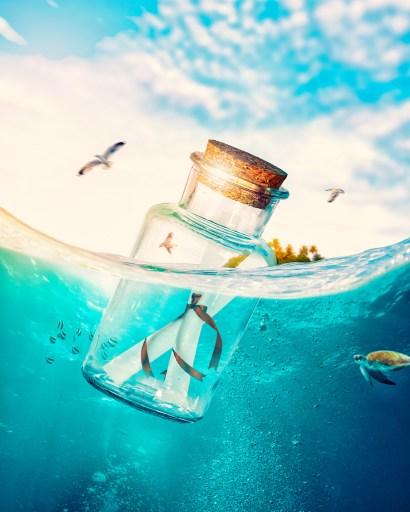ne laisse pas tes rêves et tes espoirs comme des bouteilles jetées à la mer