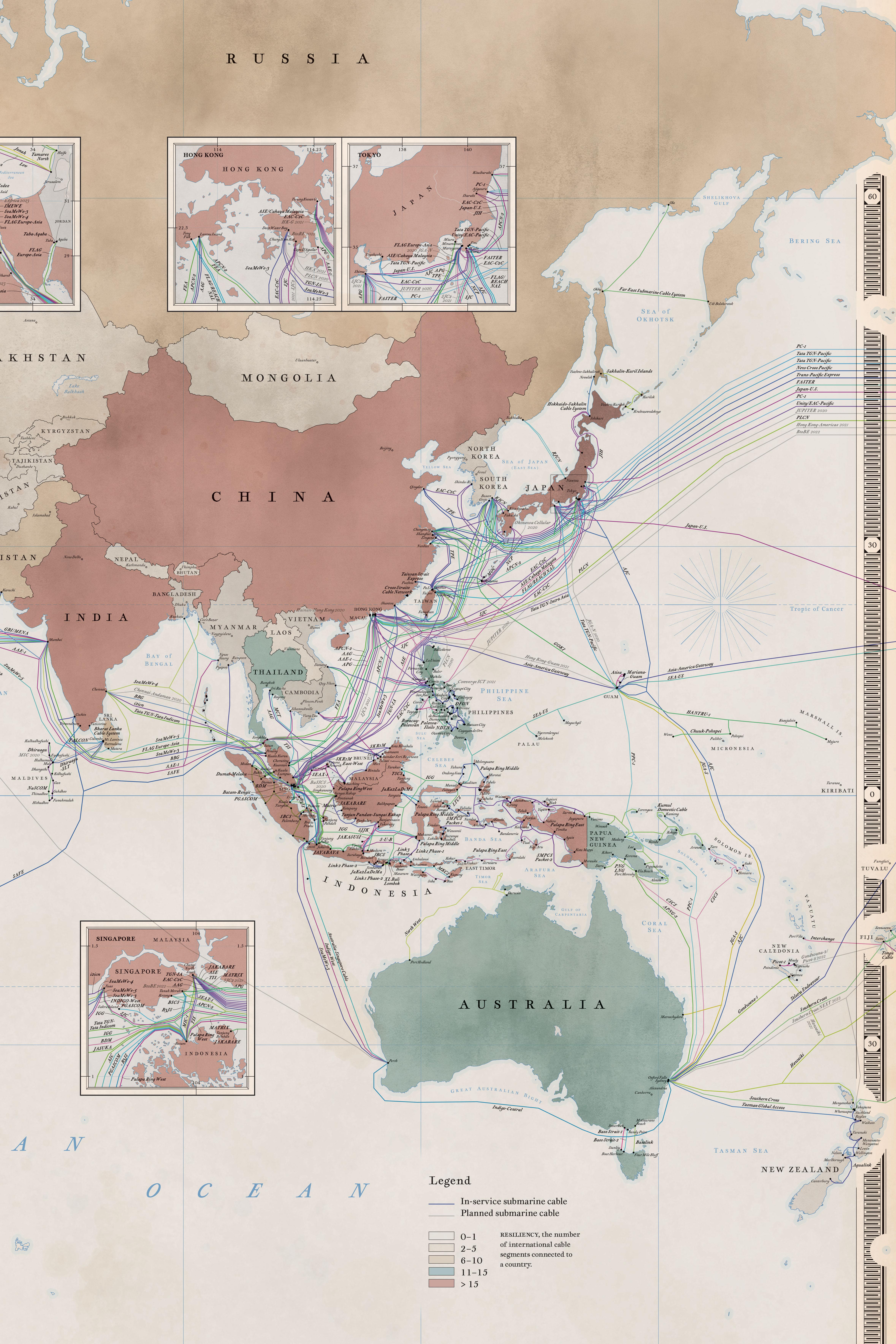 Submarine Map : submarine, SubmarineCableMap2020