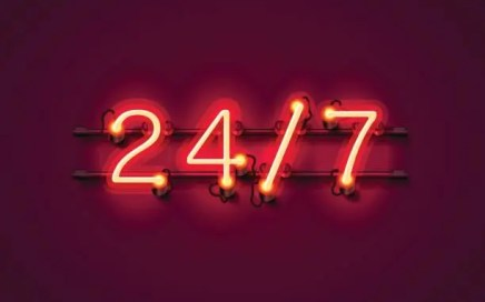 neon signboard - 24/7 D/s